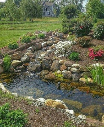 Backyard Pond Landscaping Small Gardens Ponds Backyard 400 x 300