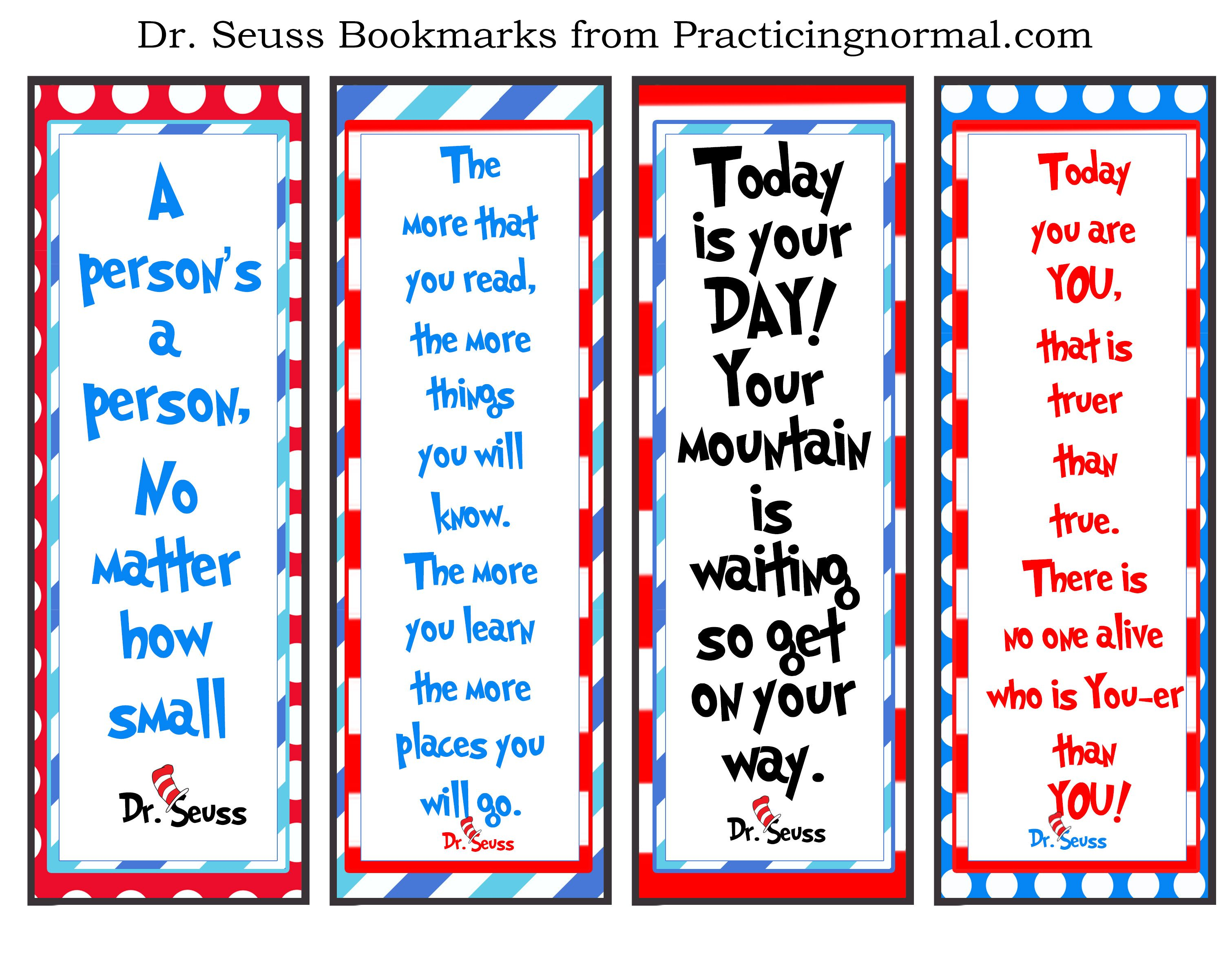 image regarding Dr Seuss Printable Bookmarks called Pin upon Looking at