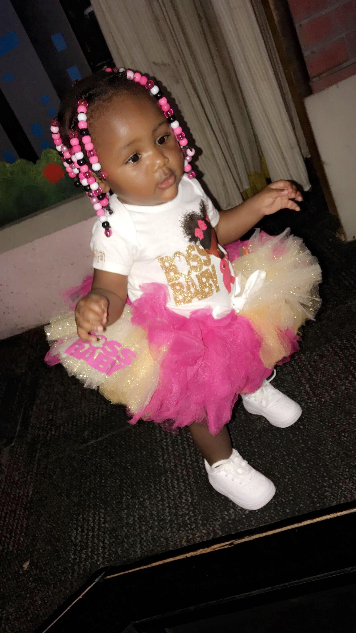 Boss baby tutu kid birthday outfits baby birthday party