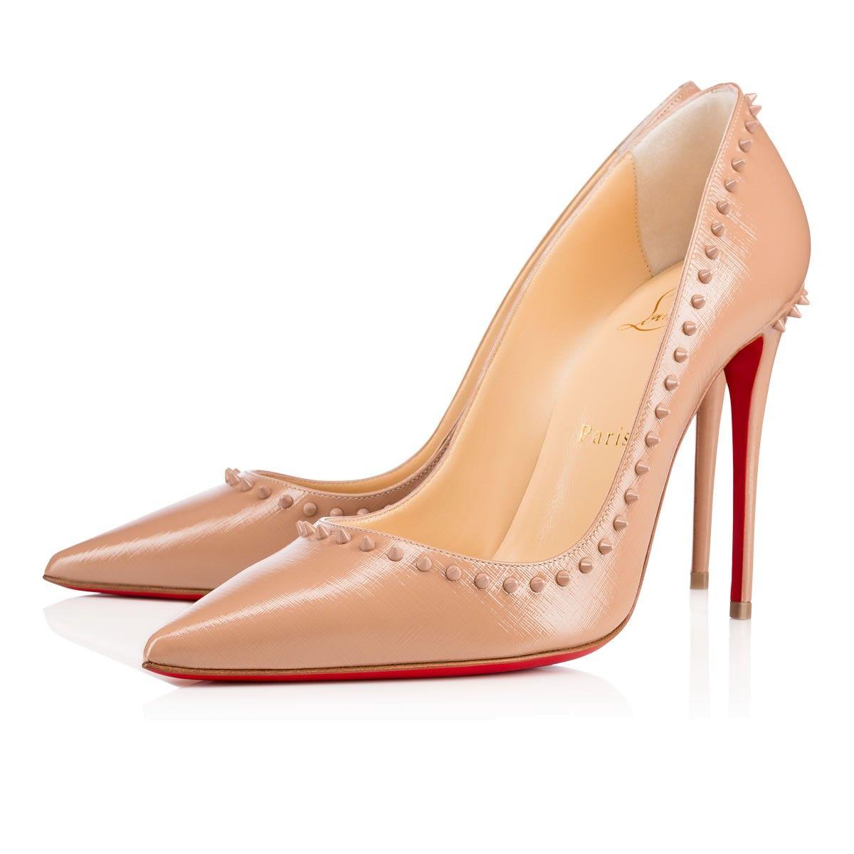 51976b013a6 CHRISTIAN LOUBOUTIN ANJALINA PATENT GIVREE 100 Nude Patent calfskin ...