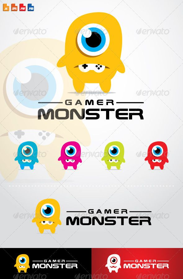 Gamer Monster Logo | Pinterest | Logos, Logo design template and ...
