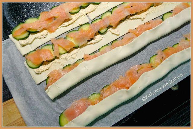 Photo of ich hab da mal was ausprobiert: herzhafte Zucchini – Lachs – Rosen