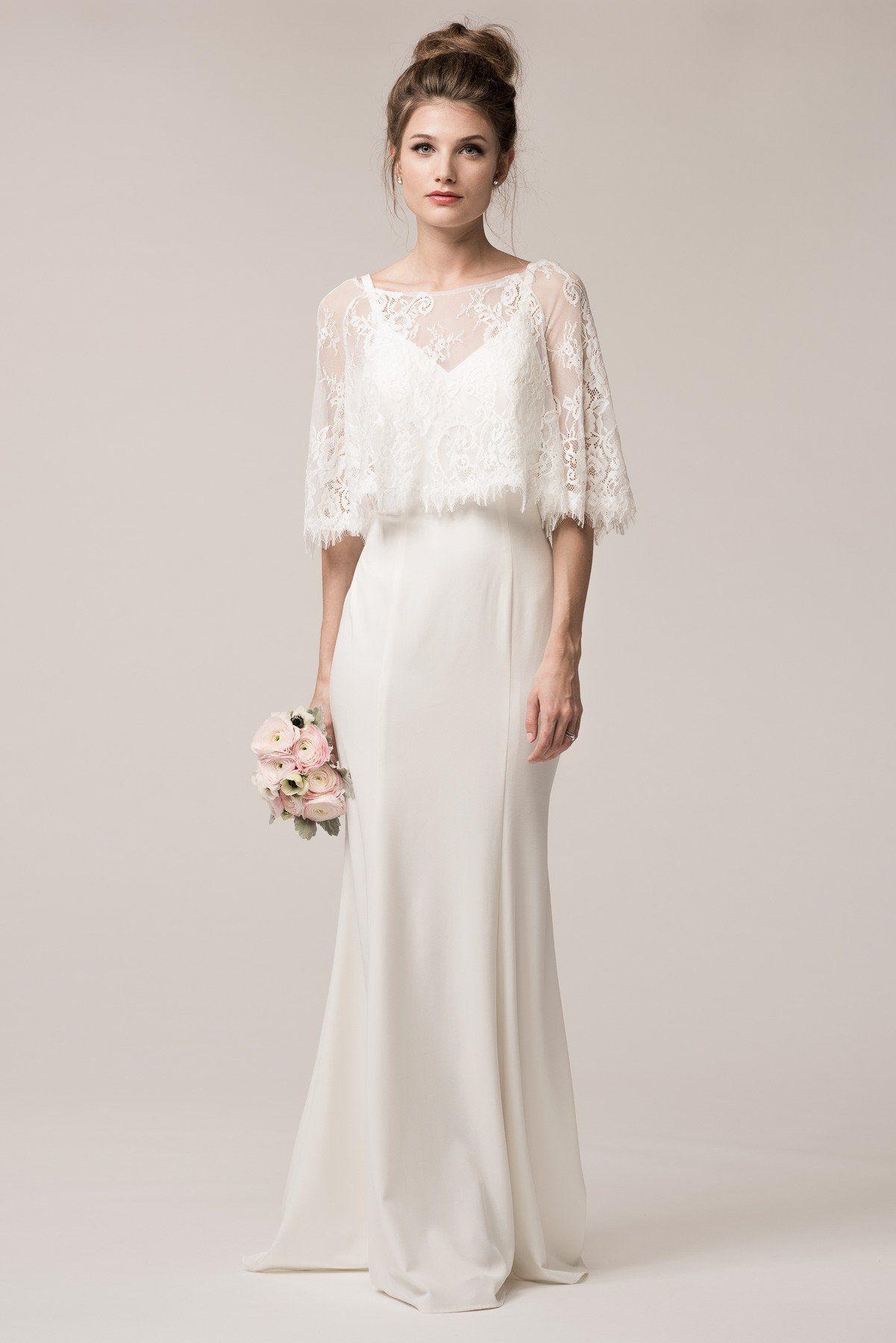 Vintage style simple bohemian wedding dress BC TRW24606