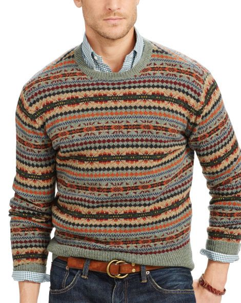 Fair Isle Merino Wool Sweater - Polo Ralph Lauren Sweaters ...