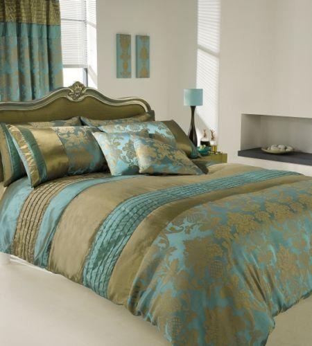 Apachi Super King Size Duvet Cover Bedding Set Gold Teal Http Www Amazon Co Uk Dp B00993q2d8 Ref Cm Sw Luxury Duvet Sets Luxury Bedding Teal Bedding Sets