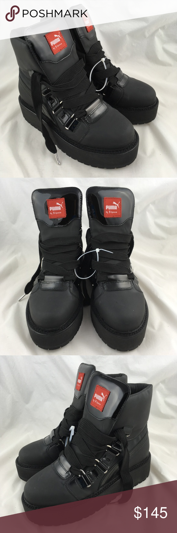 6efc5afd89e Fenty Puma sneaker boots black platform shoes NWOB Fenty PUMA by Rihanna  unisex Sneaker Boots