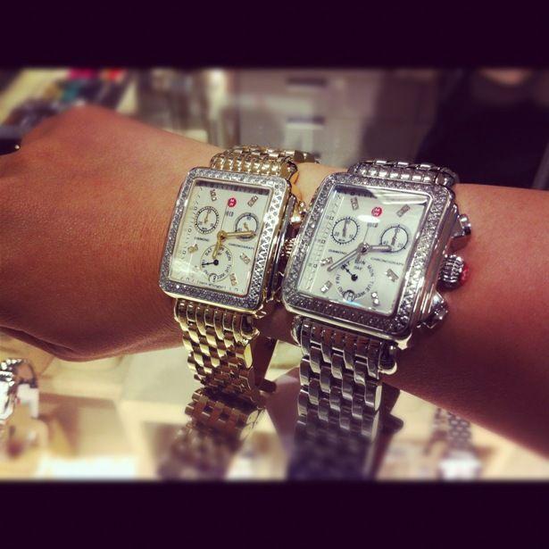 3ef8e30603f gaaaahh i wish- Michele Deco Watch Two tone XL is what I want ...