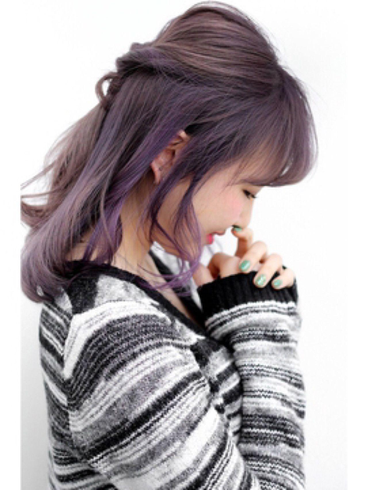 ラベンダーアッシュ 紫ヘアカラーに注目 暗めなら色落ちもオシャレに
