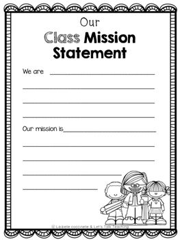 Writing Your Class Mission Statement Free  Leader In Me