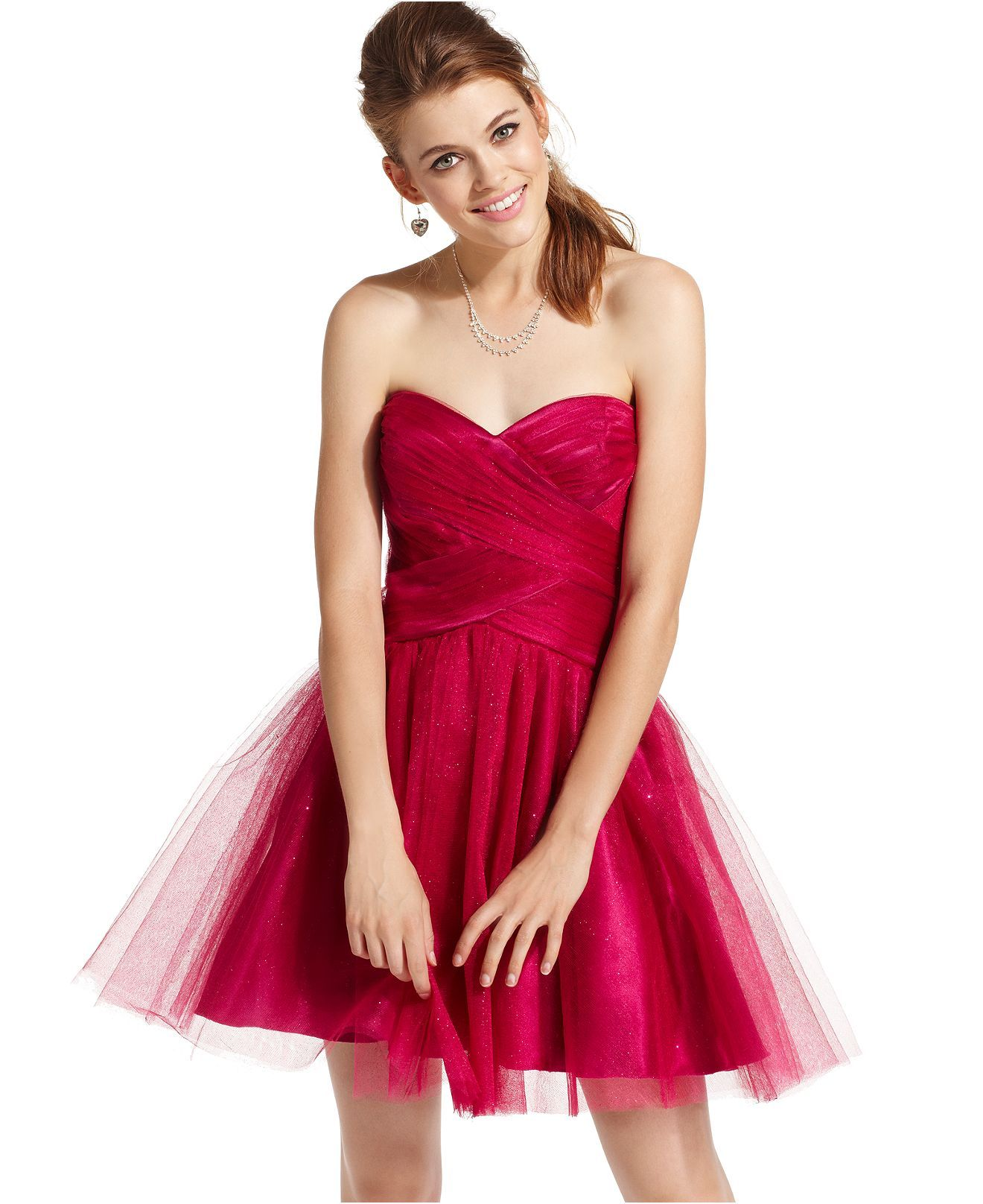 Roberta dress strapless sweetheart tulle juniors homecoming dress
