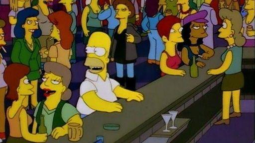 homer in gay bar simpsons gay springfield rh pinterest com