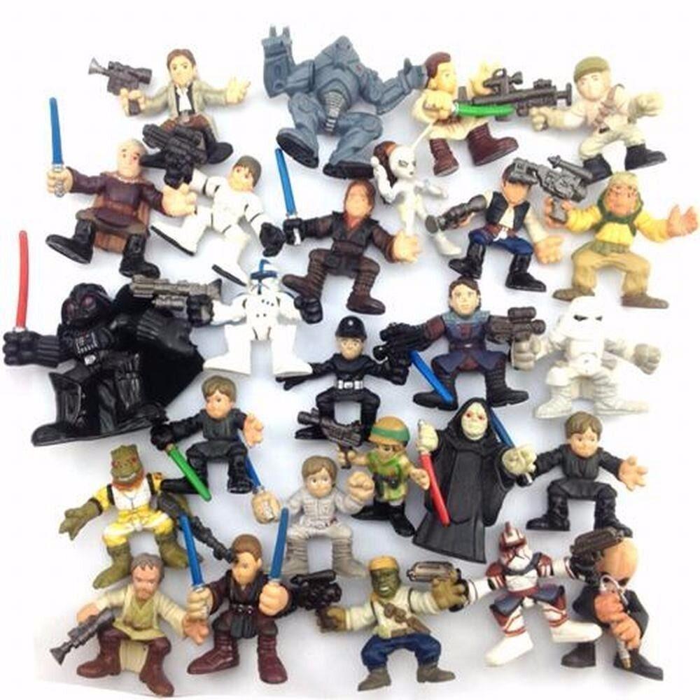 Lot 5Pcs//Set Star Wars 2005 Clone Pilot TROOPER Revenge Of The Sith 501st Figure