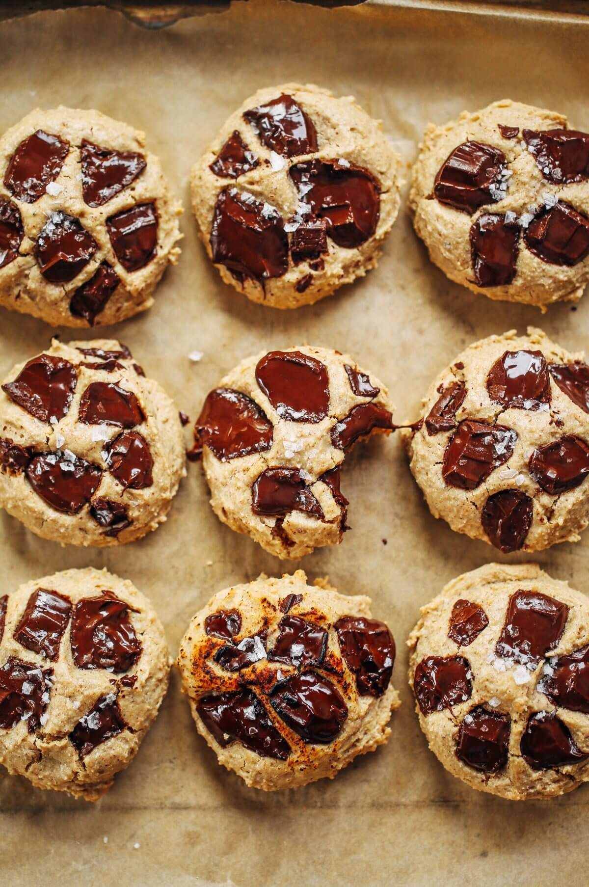 vegan gluten free chocolate chip cookies maple syrup