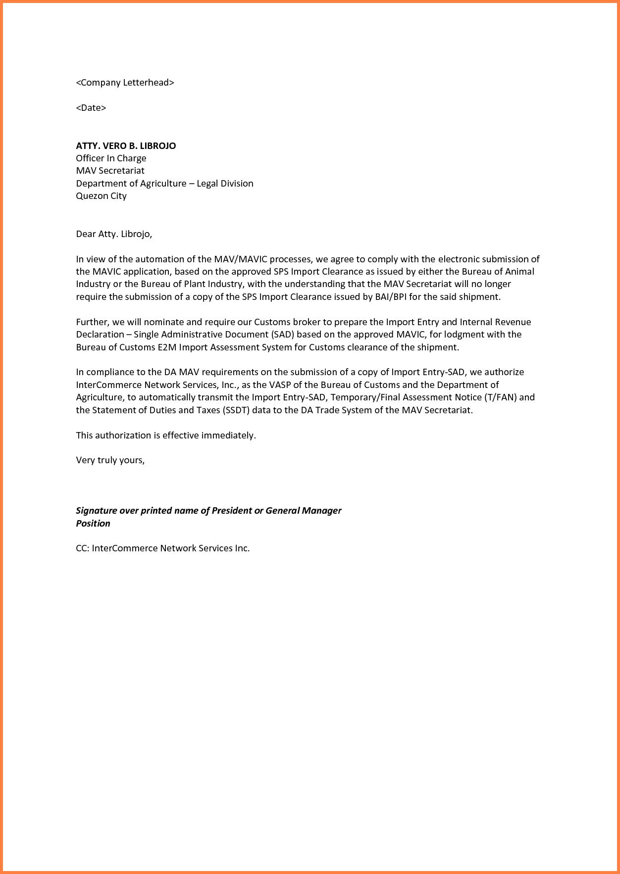 Letter Sample Authorization Lettermple Child Care Form Car Sale Guardianship Examples Pdf Word
