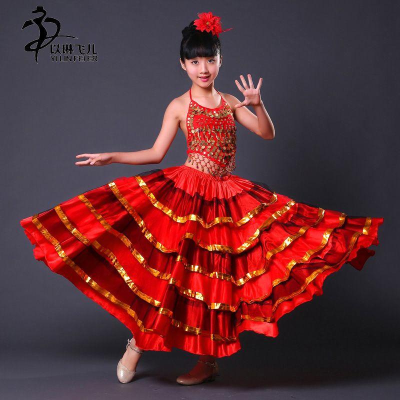 cc79182844e Trouver plus Flamenco Informations sur Enfants robes de danse espagnole  flamenco costumes jupes pour filles Big