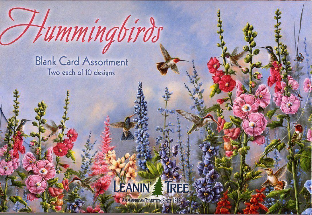 Leanin tree hummingbirds blank cards assortment 90633