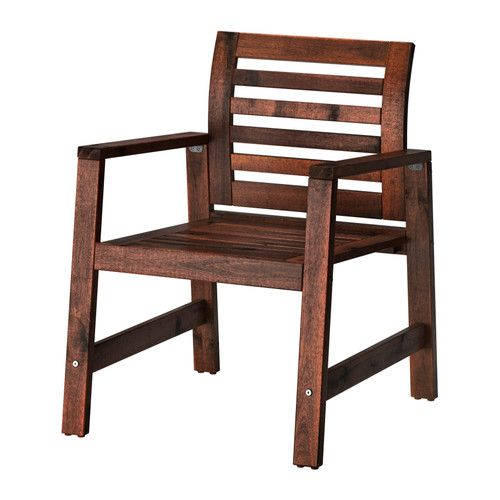 Sedie Da Esterno Con Braccioli.Applaro Sedia Con Braccioli Da Giardino Mordente Marrone Marrone