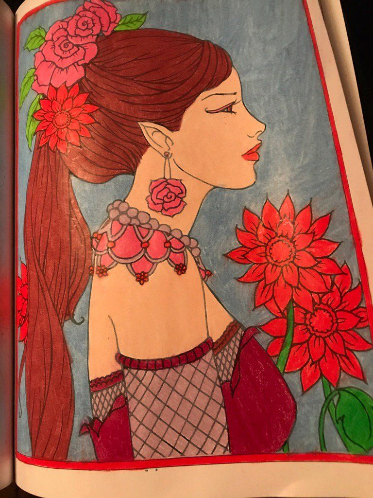 Pin by Grace Fonseca on Fantasy Faces by Molly Harrison Coloring ...