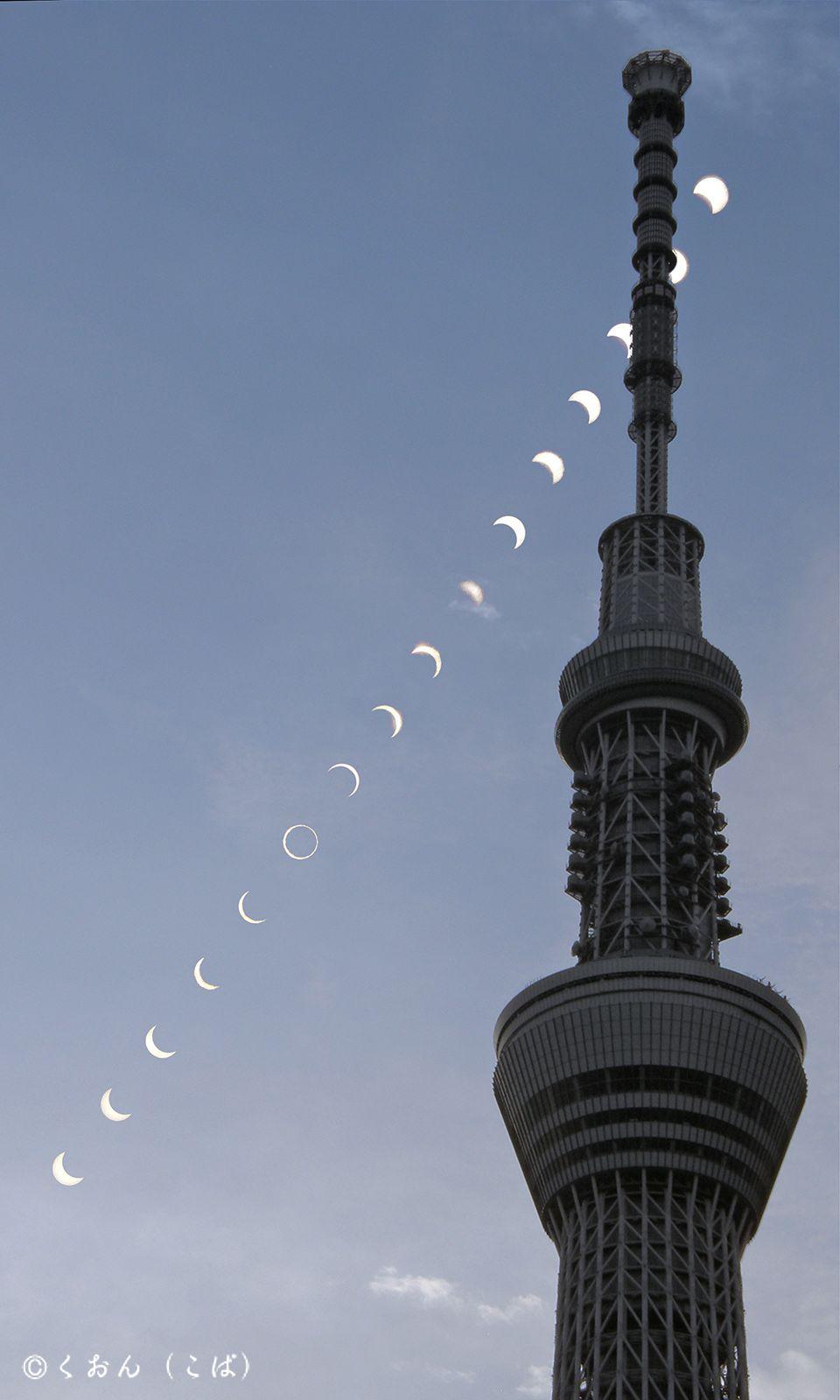 東京スカイツリー越しの金環日食