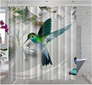 Amazon Com Hummingbird Shower Curtain In 2020 Floral Shower