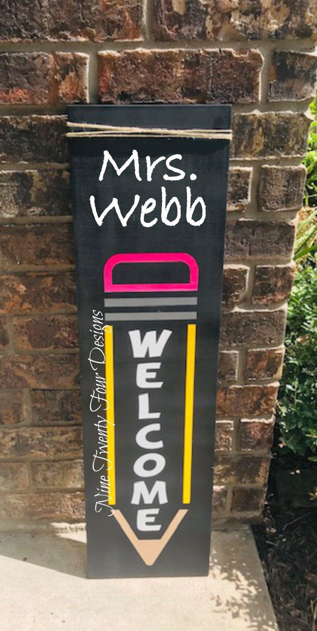 Teacher Sign Welcome Sign Pencil Sign Class Decor Teacher Etsy Teacher Signs Teacher Welcome Signs Teachers Office Decor