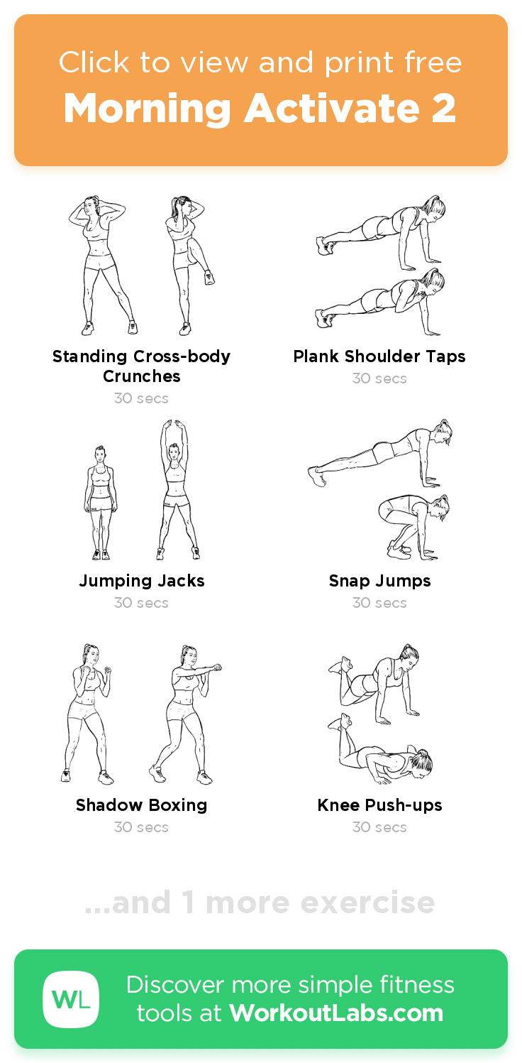 Mattina Activate 2 – addominali, braccia, petto, gambe … 4 minuti gratuiti … allenamento: fallo ora o …