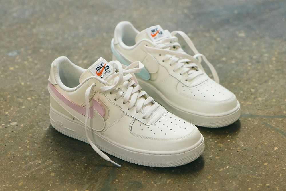 new product 99ee6 4de63 NIke Air Force 1 Swoosh Pack On Foot Sail footwear february 2018