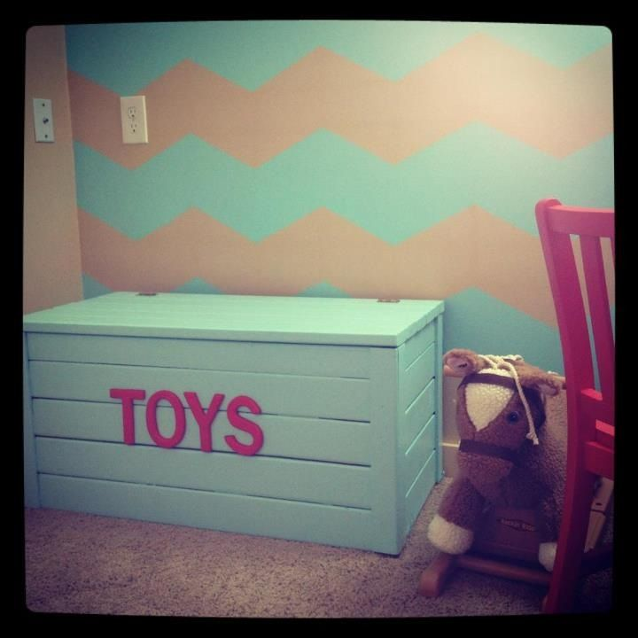 Toy Chest But With Out Words, Use For Living Room, Paint Outside Neutral  Like