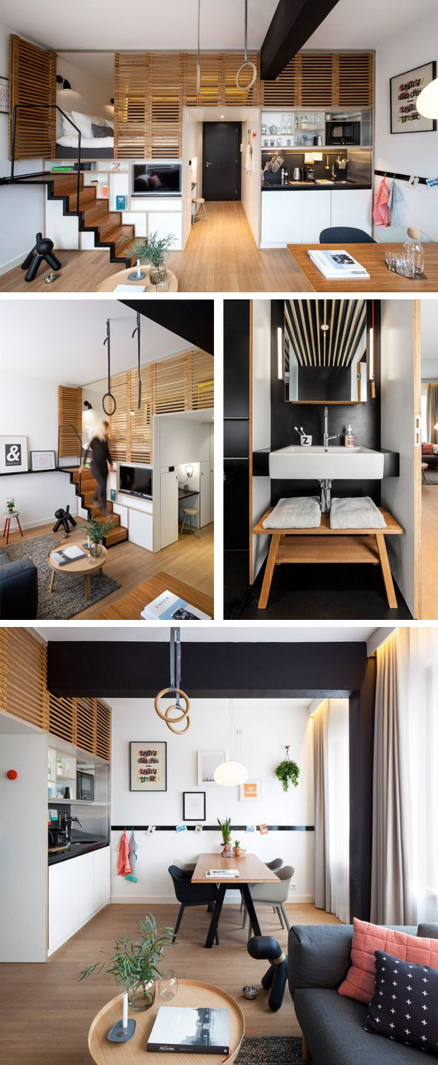 1 bedroom house with loft  Tiny House  Zoku Loft  小公寓以软装  Pinterest  Lofts Concrete