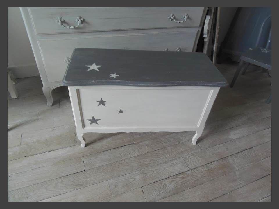 coffre jouets toile atelierdes4saisons patin gris. Black Bedroom Furniture Sets. Home Design Ideas