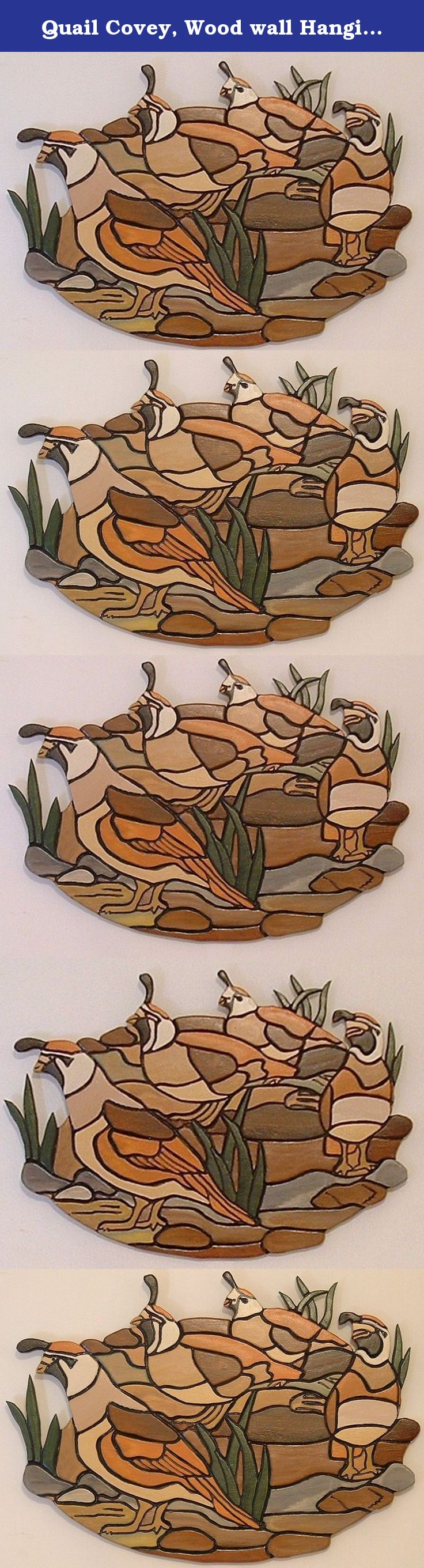 Quail covey wood wall hanging wall decor for office or man cave