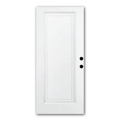 Steves Sons Premium White 1 Panel Primed Steel Slab Entry Door