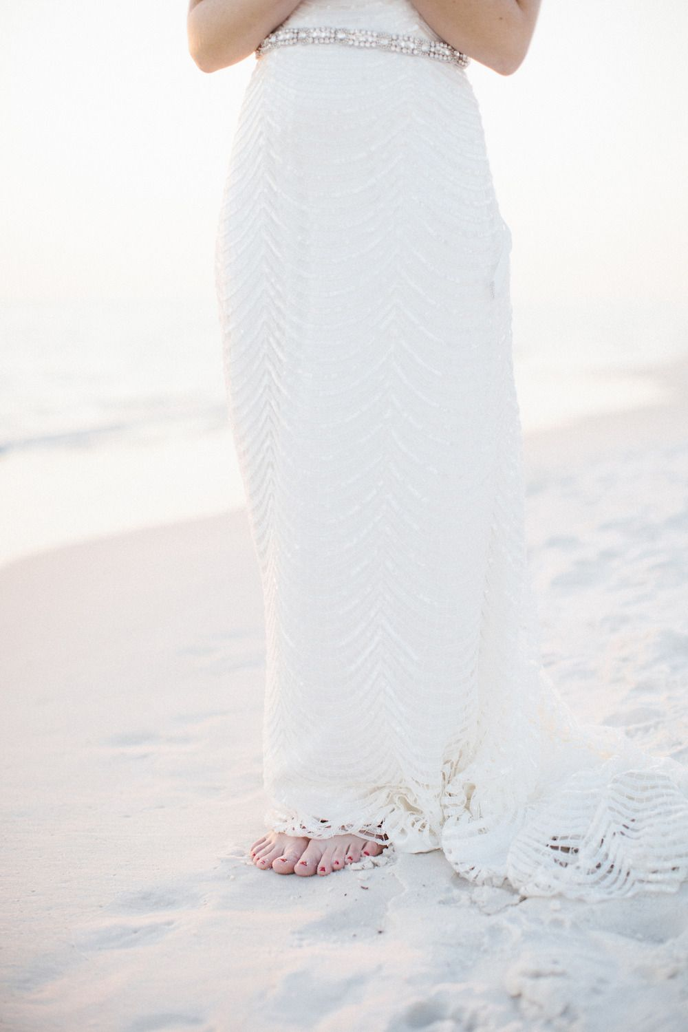 Photography: Leslie Hollingsworth - www.leslie-hollingsworth.com  Read More: http://www.stylemepretty.com/2015/02/27/blush-gold-rosemary-beach-wedding/