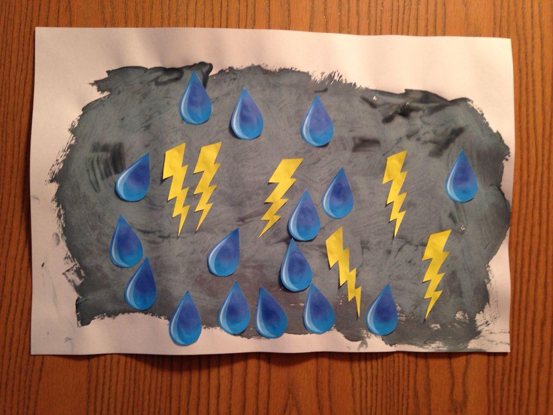 Storm Craft - Kindergarten Craft - Science Craft - Kids ...