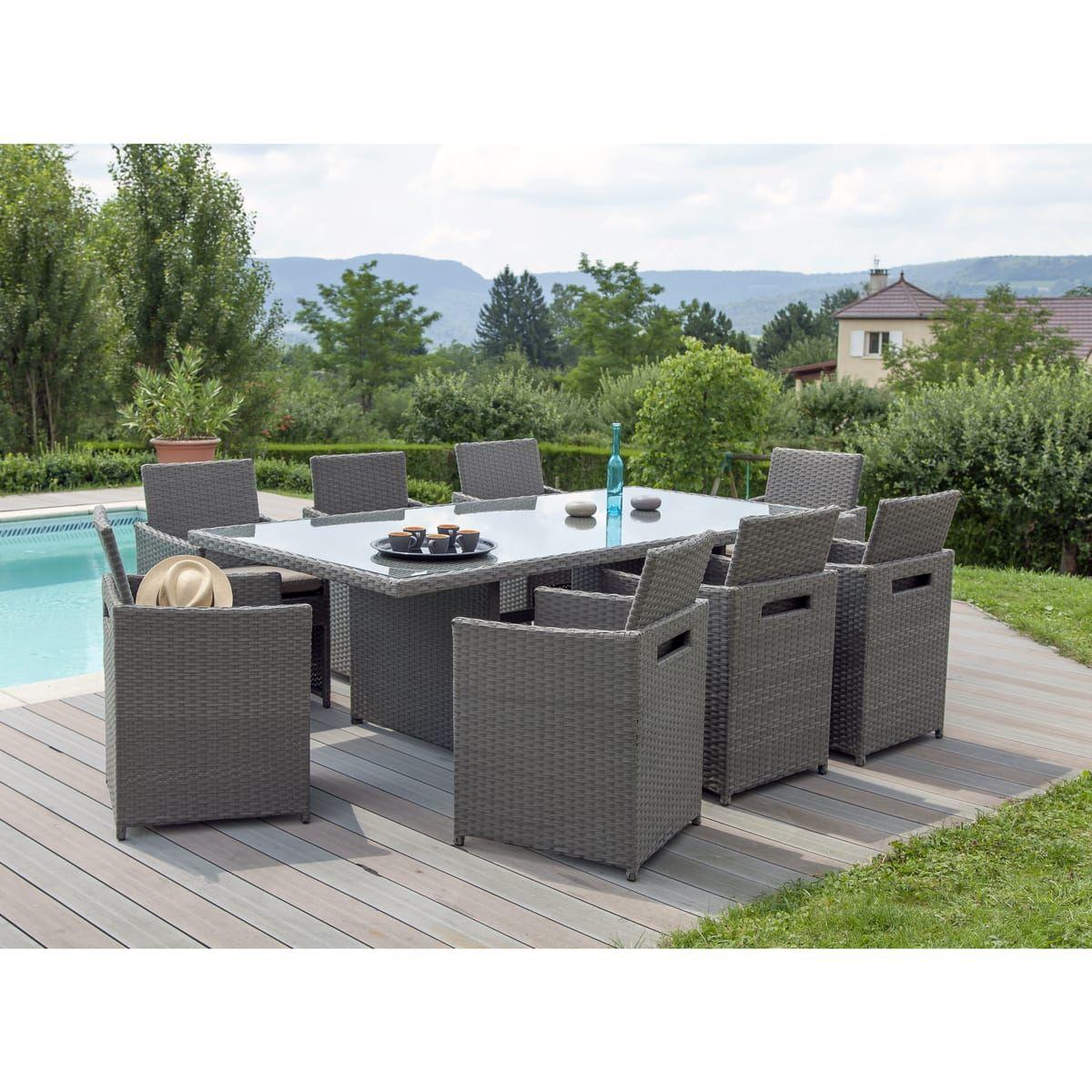 Stunning salon de jardin tresse auchan ideas amazing for Auchan mobilier de jardin