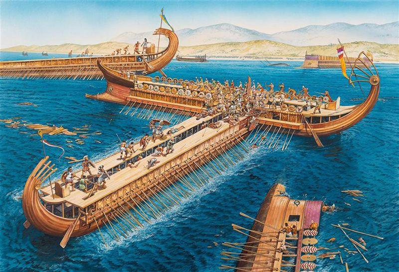 """""""Salamis, 480 BC: Ramming and boarding"""""""