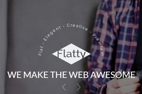 Flatty A Uikit Theme Web Template Design Theme Personal