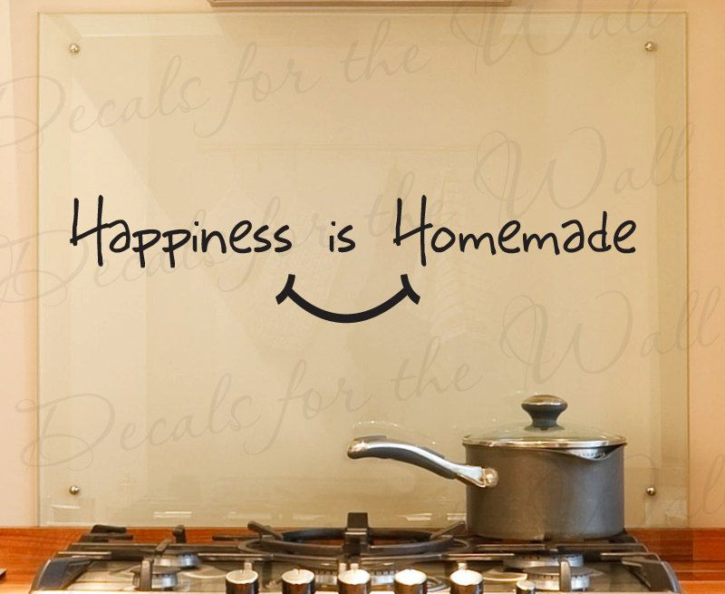 Happiness Homemade Kitchen Dining Room Homedecalsforthewall Beauteous Dining Room Wall Quotes Design Decoration