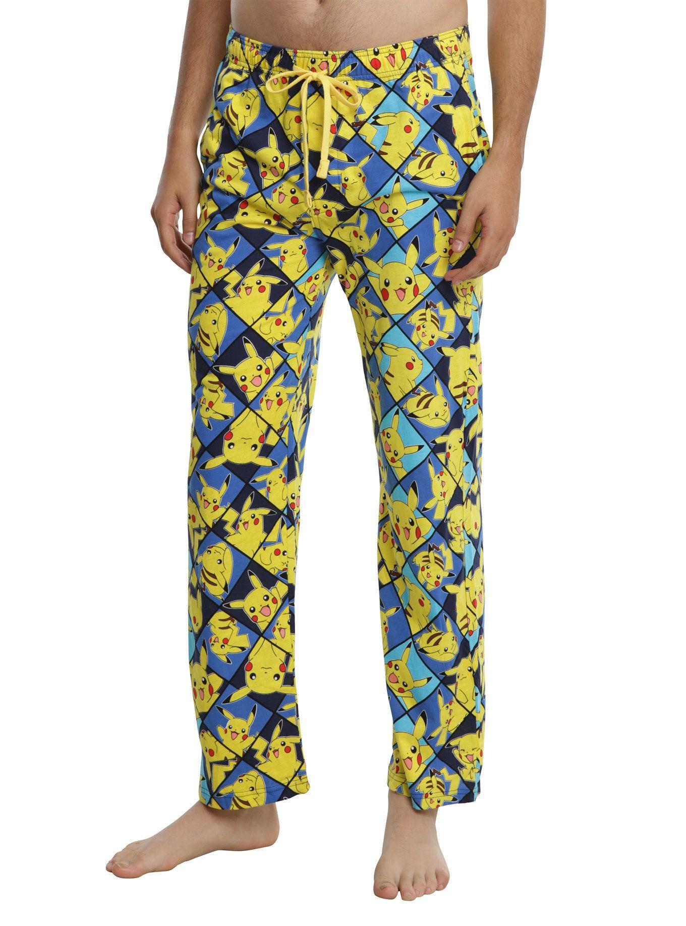 3f3f18604ad5 Pokemon Pikachu Print Guys Pajama Pants in 2019