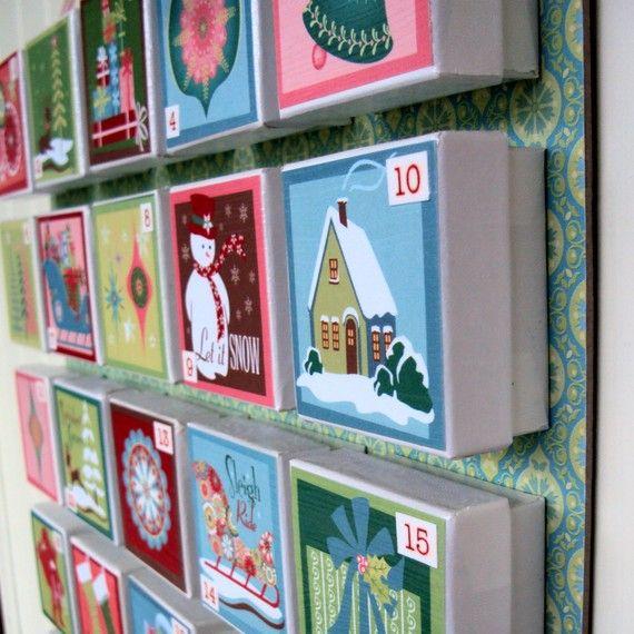 advent calendar diy so cute craft ideas kerstmis. Black Bedroom Furniture Sets. Home Design Ideas