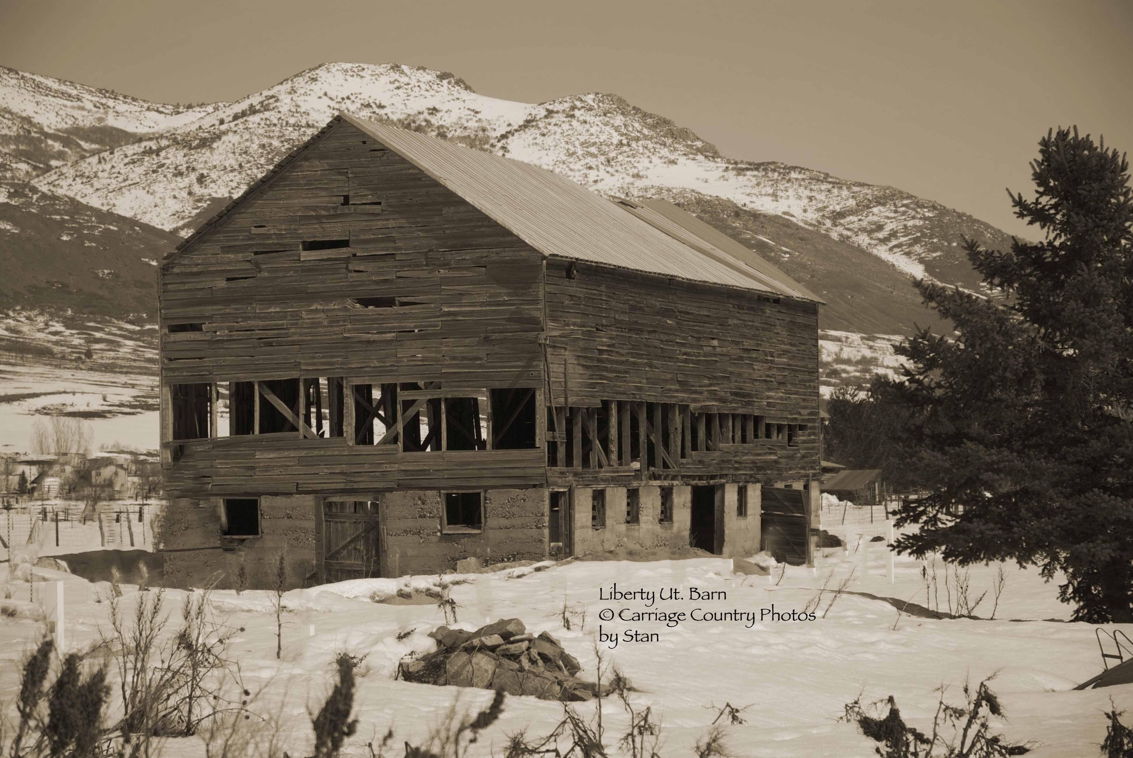 Liberty ut barn old barns abandoned houses barn