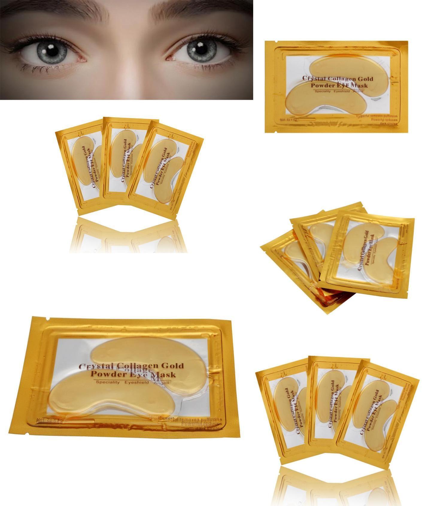 Visit To Buy 24k Gold Eye Collagen Aging Wrinkle Under Crystal Gel Powder Aye Mask Patch Anti