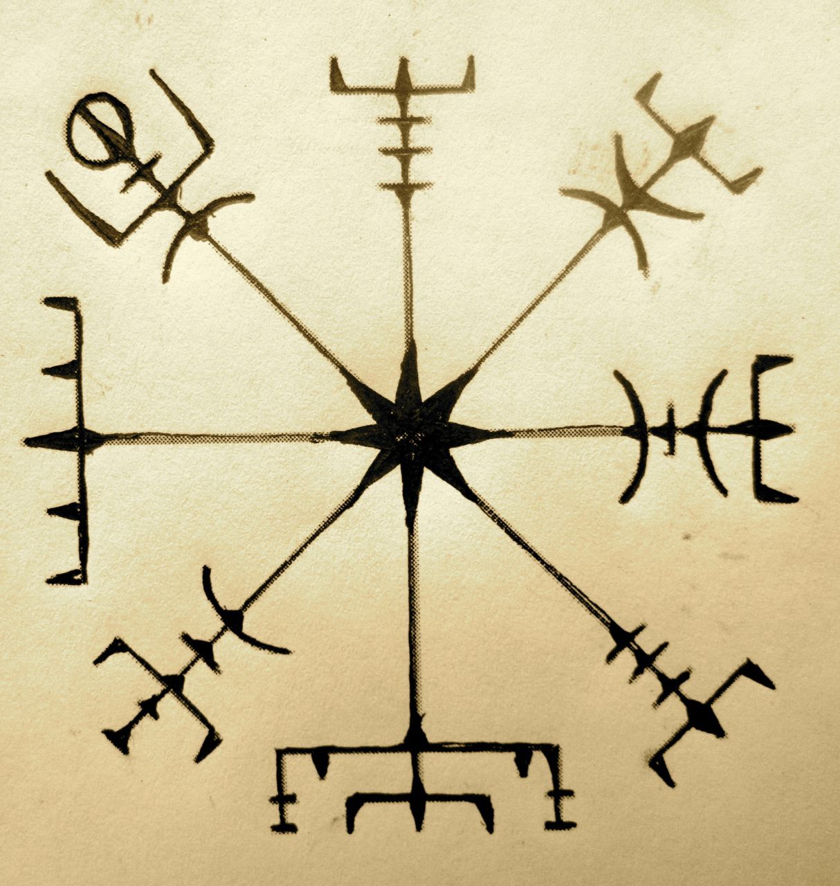 Runic Compass Preventng From Getting Lostvegvisir The Icelandic