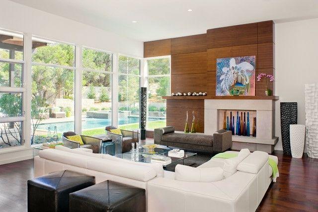 Holzwand Verkleidung Ideen Wohnzimmer bunt Moderne Häuser Pinterest