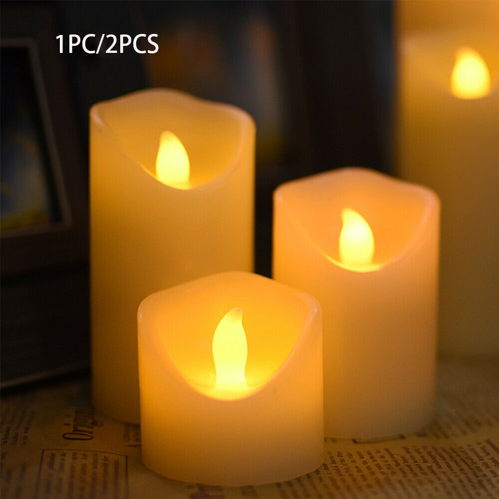 Night Light Party Decoration Electrical Candles Led Flameless Candles Light Fashion Home Garden Homedcor Can Electric Candles Candles Candle Light Wedding