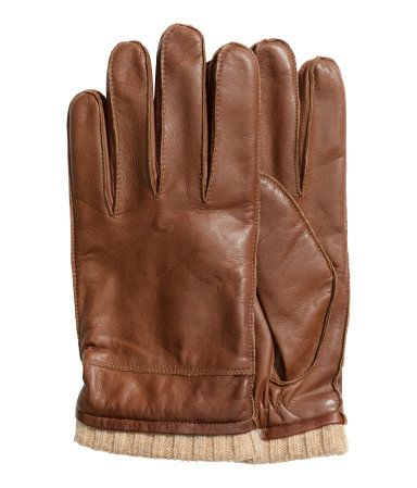 a40eb4fbe842c Product Detail | H&M US | Wish List | Brown leather gloves, Leather ...