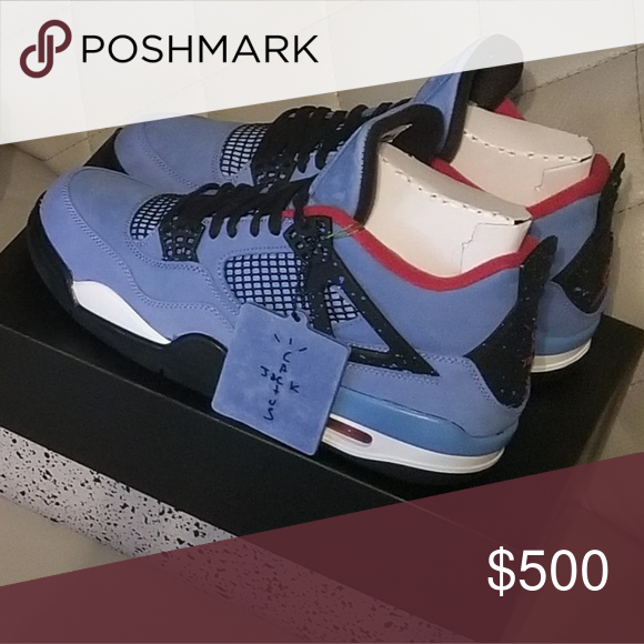 buy popular 0ceb8 aeb5a Travis scott jordan 4 Never worn authenticated from stockX ...