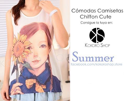 CAMISETAS CUTE (Modelo Sunflower) - REF: CM/003000 Síguenos en Instagram: @KokoroShopStore  Para pedidos o consultas, contactar mediante Facebook:  https://www.facebook.com/kokoroshop.store/ Muchas Gracias  #moda #modamujer #camisetas #woman #girls #verano #summer #summertime #cute #lovely #shopping #tiendas #compras #chicas #outfit