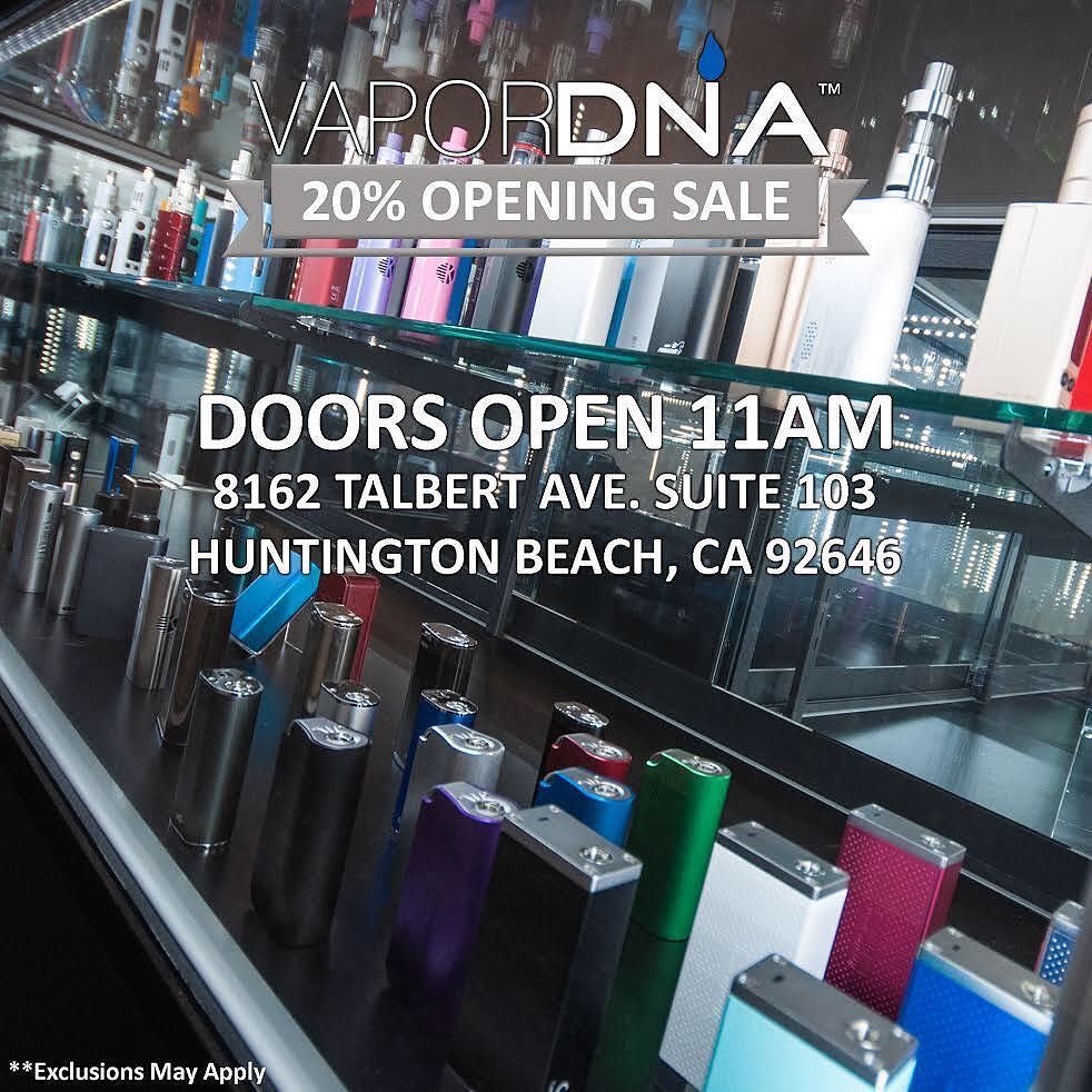 vaporDNA If youre in the Huntington Beach Area! Last Day of ...