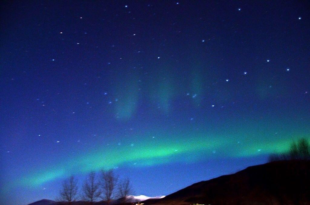 Nordlys på Island